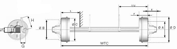 axles with mechanical brakes