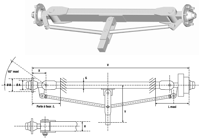 Ackman steering axles